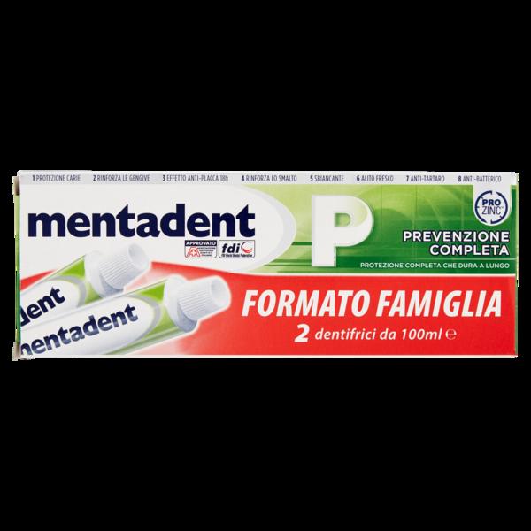Mentadent P prevenzione completa 2x75ml FORMATO FAMIGLIA